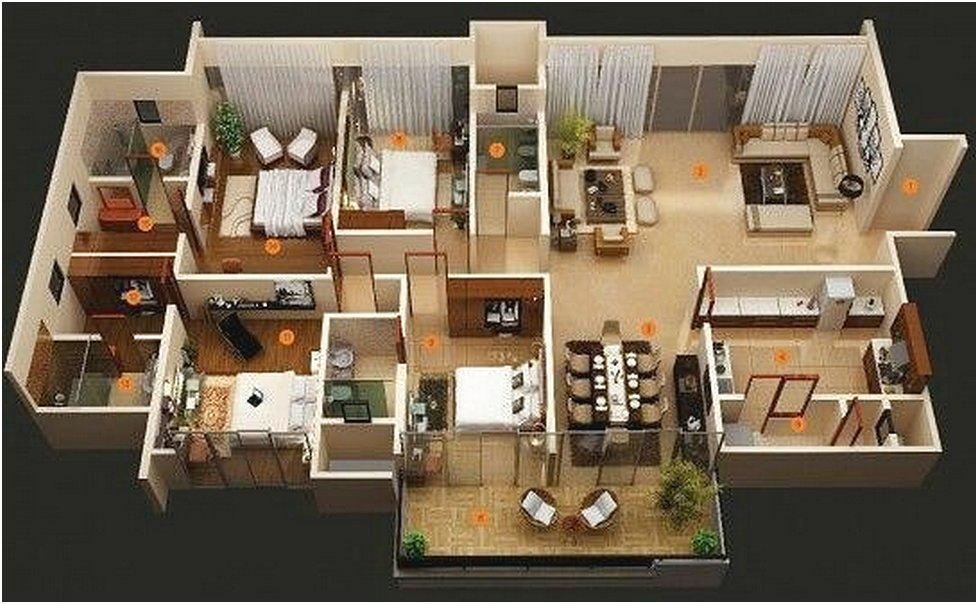 Contoh Denah Rumah Persegi Panjang 15 denah rumah minimalis terbaru yang kece oliswel