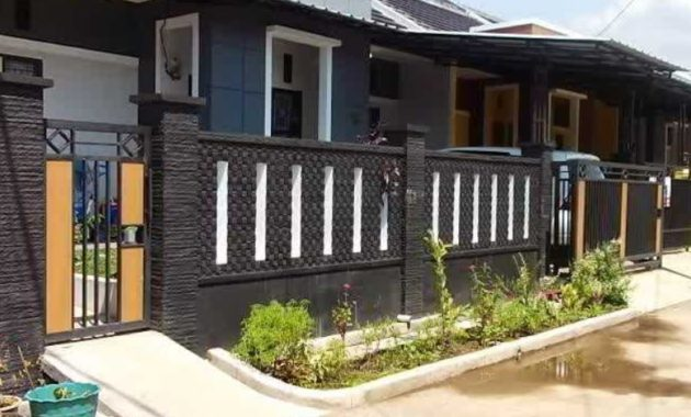 20 Desain Pagar Rumah Minimalis Terbaik Saat Ini Rumah